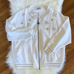 80's / Varsity Style Nautical Star ZIP Up